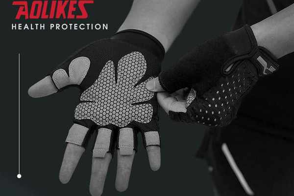 best selling Professional Gym Exercise Gloves Men Hands Protecting Breathable Sport Fitness Weight-lifting Gloves