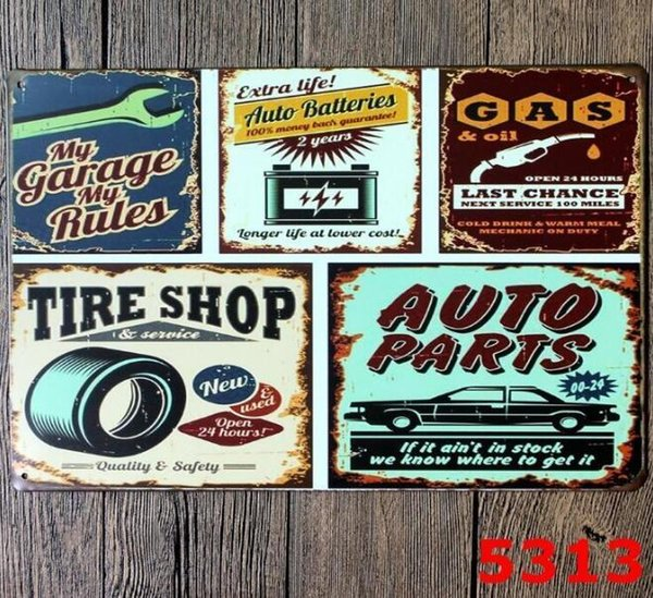 2019 Vintage Tin Signs For Wall Decor My Garage My Rules Motorhead Wall Art Iron Paintings Metal Tin Signs Pub Bar Garage Home Decoration 666 From
