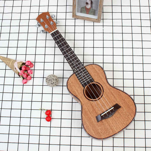 best selling high Quality 23 Inch 4 Strings Mahogany Ukulele Rosewood Fretboard & Bridge Guitar Music Instrument For Guitar Music Lovers Gift