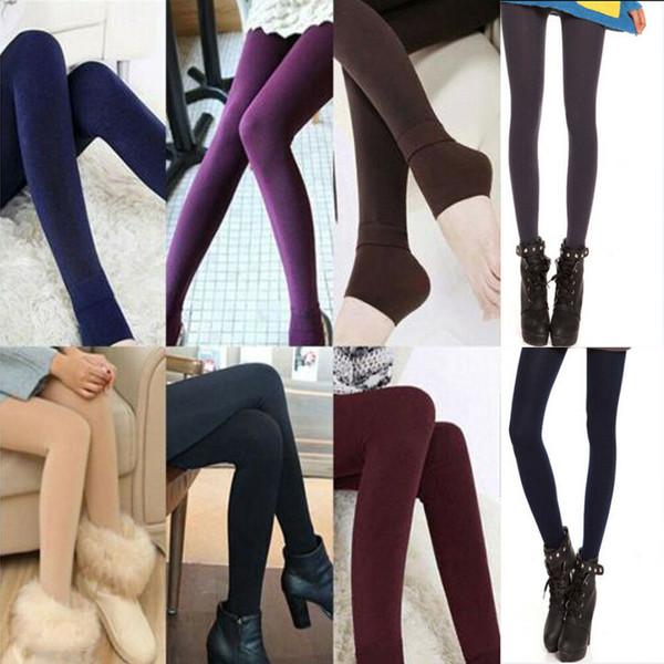 2019 New Warm Winter Skinny Slim Leggings Stretch Pants Thick Footless Legging