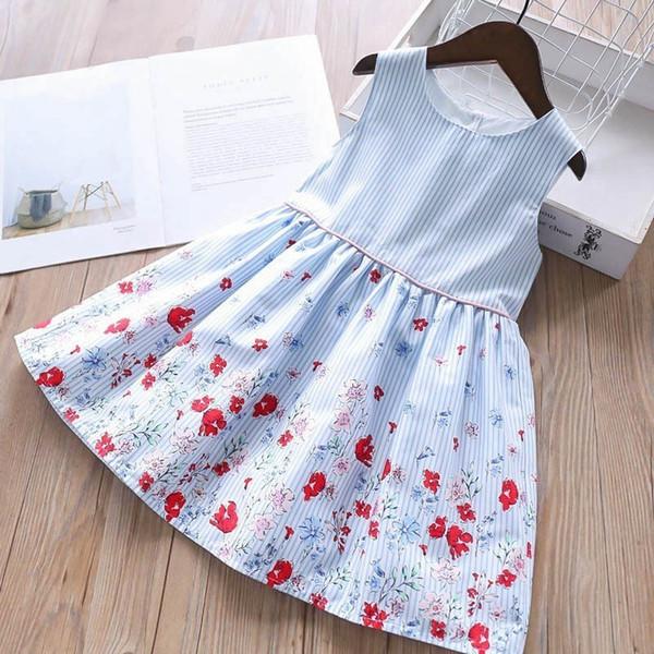 Compre Baby Girl Flower Dress Verano Algodón Niños Vestidos Para Niñas Ropa Fiesta Escolar Cumpleaños Niños Boutiques Ropa Y190516 A 3013 Del