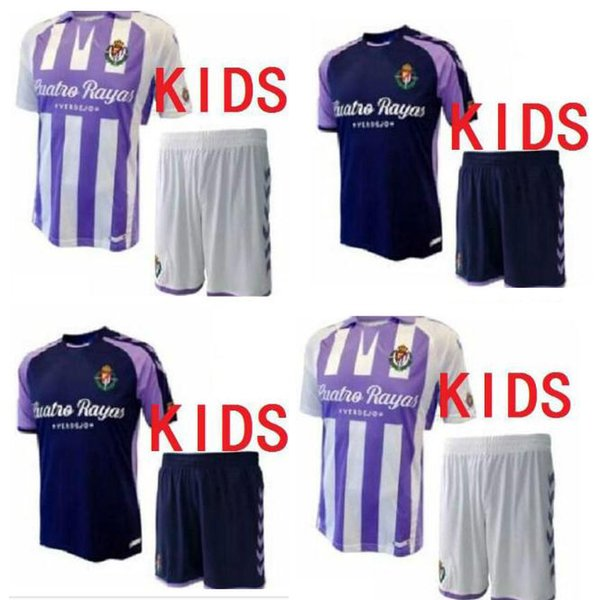 Latest KIDS 18 19 Valladolid soccer jerseys 2018 2019 HOME away Real Valladolid Jaime Mata Michel Borja Luismi Jaime football shirts
