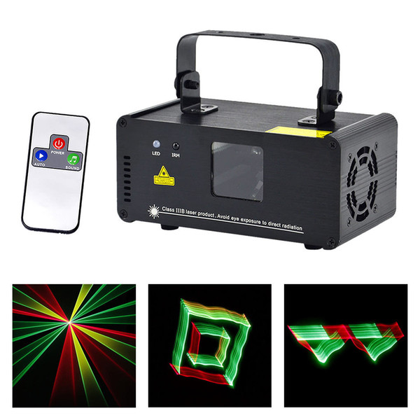 AUCD 3D Effect 8 CH DMX 512 Mini IR Remote 250mW RGY Laser DPSS Scanner Lights DJ Show LED Projector Stage Lighting TDM-RGY250