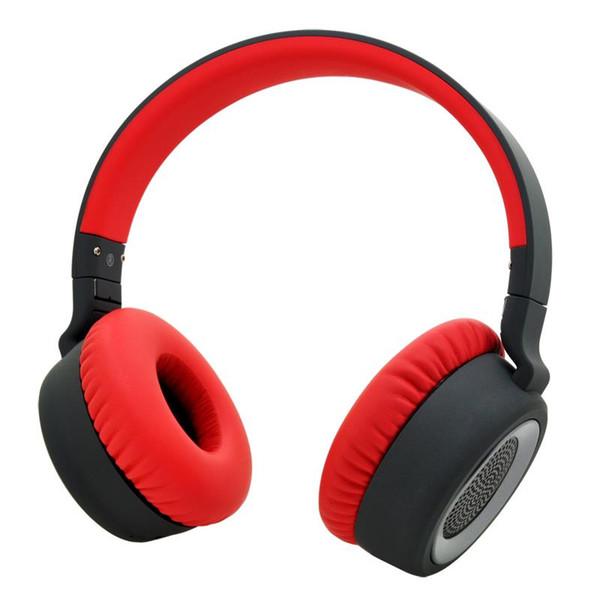 Fabrik direkt Stereo-Funkkopfhörer Eingebautes Mikrofon, rotes Bluetooth-Headset für PC und Handy, kostenloser Einkauf