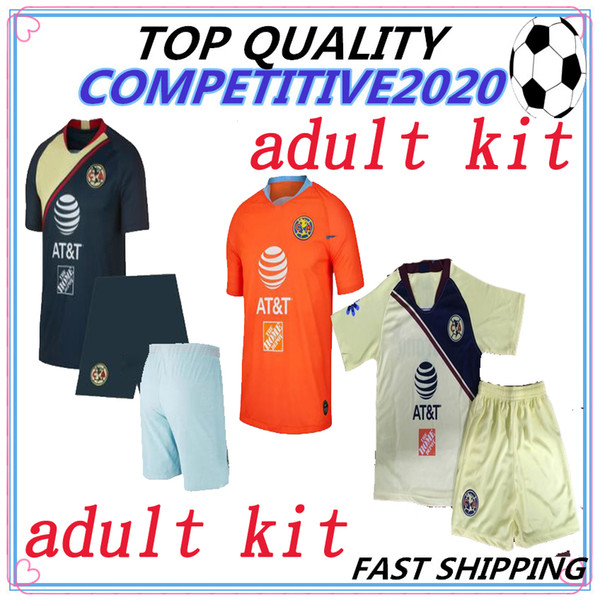 online store 81f42 3d2fe 2019 Adult Kit 2018 2019 Thailand Mexico LIGA MX Club America Soccer  Jerseys Home 18 19 Apertura A18 CAMPEON Third Chivas Tigres Football Shirt  From ...