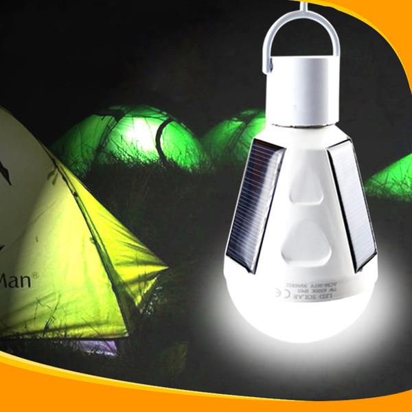 Blanc 220v 110v E27 Cob solaire a mené des ampoules d'éclairage de secours pour la maison maison jardin plein air excursion de camping plage