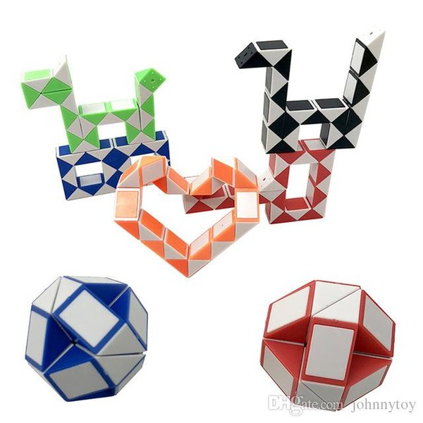 24 Paragrafo creativo Magic Snake Shape Toy Game 3D Cube Puzzle Twist Puzzle Variety Magic Toy Gift
