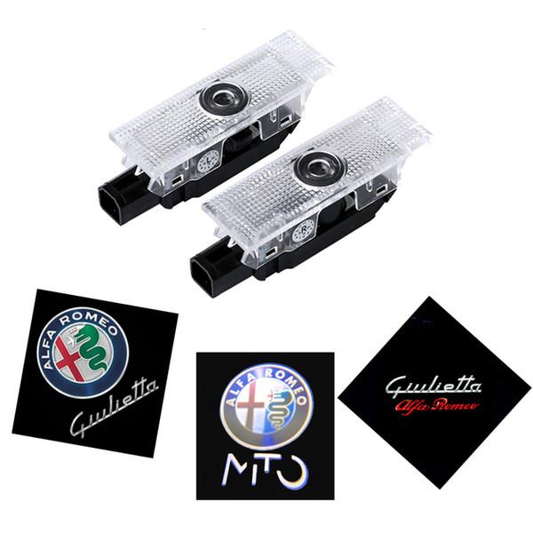 Per Alfa Romeo 159 2Pcs LED Car Door Welcome Light Logo Proiettore per Alfa Romeo 159 147 Giulia Giulietta Mito Stelvio