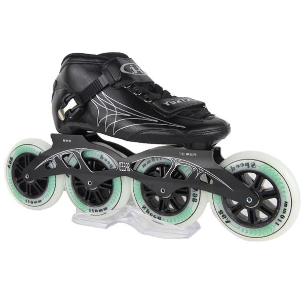 عالية القوة الألياف الزجاجية الكبار والطفل الزلاجات المهنية سرعة التزلج النساء الرجال مضمنة سرعة الزلاجات حجم EU30-44