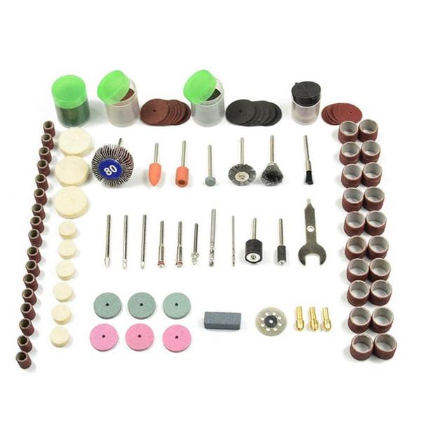 196pcs Rotary Power Tool Set Mini Drill Grinder Polier Kit Filzscheibe Zubehör Trennscheibe Wood Work-Bohrer