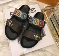 Top Men Women Sandals with Dust Bag Designer Shoes snake print Luxury Slide Summer Fashion Wide Flat Sandals Slipper