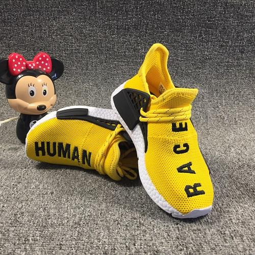 NMD Infant PW Kids Running Shoes Black Blue Yellow Red Pharrell Williams Sneakers Children Boys Girls Junior Pupils Trainers With Box Tennis Shoes For