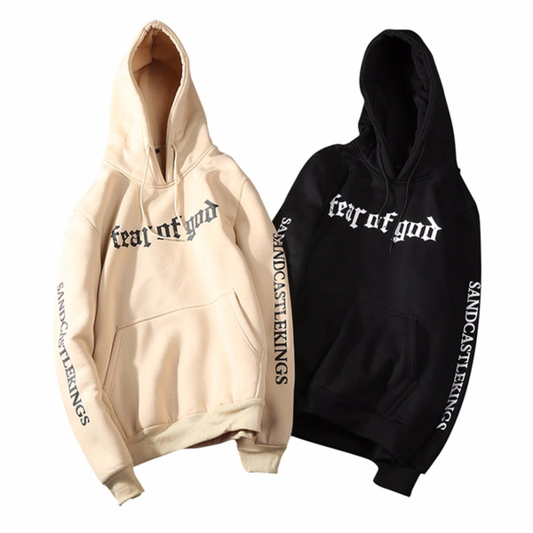 Fear Of God Hoodie Men&Women 2019 Fashion Autumn Fleece Thick Warm Printed Pullover Sweatshirts Men's Streetwear Hip Hop Hoodies