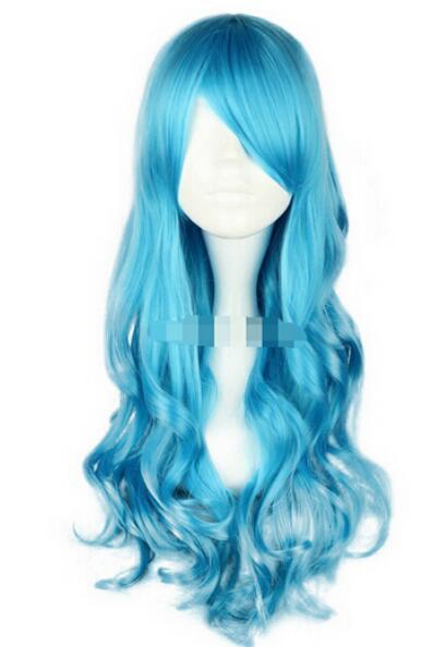 FREE SHIPPING++ Da ndy Ocean Blue Long Synthesis Lolita Wig