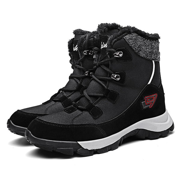 Winter Mens And Womens Long Tube Snow Boots Comfortable Non-slip Casual Warm Shoes Outdoor Lovers Hiking Boots