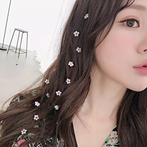 Bling Flower Crystal Long Hairpins Headwear for Bride Wedding Party Girls Rhinestone Hair Clips Pins Barrette Styling Tools 10pc