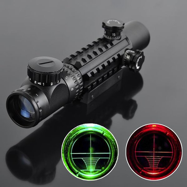 Laser Sight 4-16x50 Red Green Illuminated Reticle Riflescope Airsoft Scope with 20MM Rail Mounts for Hunting