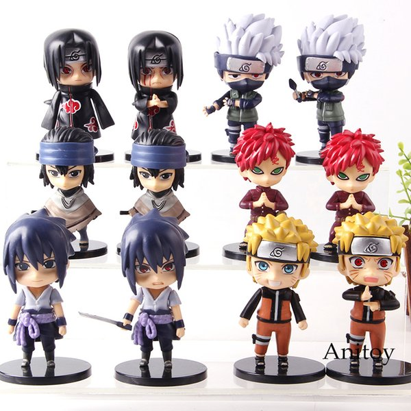 Anime Naruto Shippuden Hatake Kakashi Gaara Uchiha Itachi Sasuke Uzumaki Naruto Action Figure Collection Model Toys 6pcs/set
