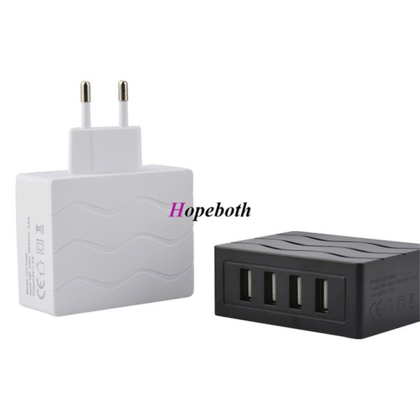 4 Ports USB HUB Power Adapter EU Plug Travel Wall Charger For iPhone ipad Samsung smart cell phone tablet pc 5V 2.5A