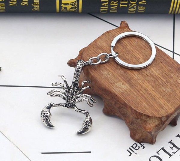 Europe and the United States foreign trade new accessories punk personality alloy retro scorpion key ring key rings for men
