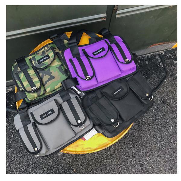 Cross Waist Bag Nylon Punck Style Fanny Pack Men Chest Rig Hip Hop Streetwear Unisex Cool Functional Tactical Chest Bag 503 C19031801