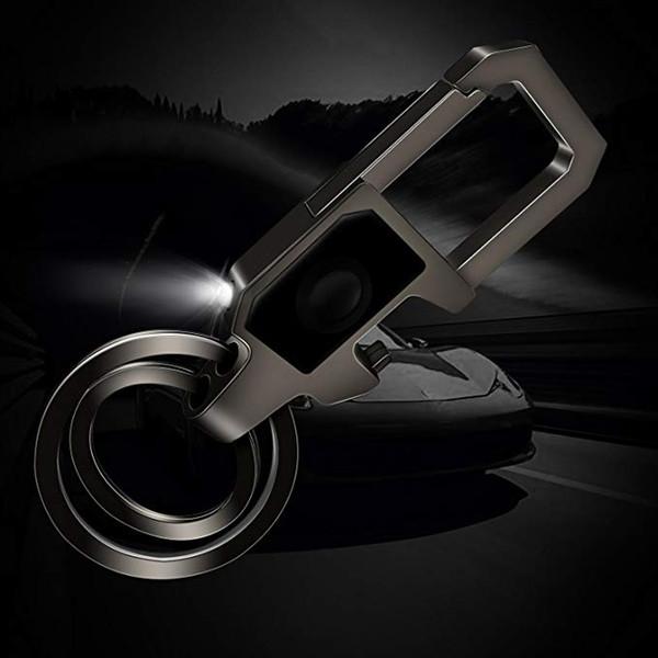 201909 Chaude 2 Couleurs LED Lampe De Poche Porte-clés Ouvre-bouteille Porte-clés Multifonctionnel Contrefaçon Lumière Porte-clés Femmes Hommes Accessoires M560F