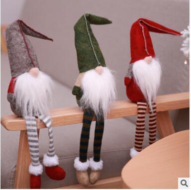 Noël Père Noël sans visage en peluche Jouets Mignon Esprit De Noël Poupée Sur Le Plateau De Noël En Peluche Poupée En Peluche Jouet Santa Deco Elfes Jouets 213