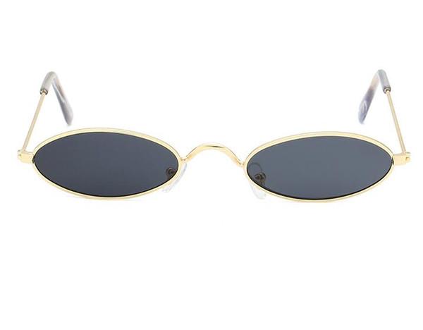 Nouvelle mode maigre lunettes de soleil ovales hommes femmes marque Designer étroit lunettes de soleil minuscules rétro lunettes vert rouge vente