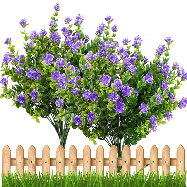 Artificial Flowers Outdoor Plant Shrubs Boxwood Plastic Leaves Fake Bushes Greenery Window Home Yard Garden Wedding Decor A10240
