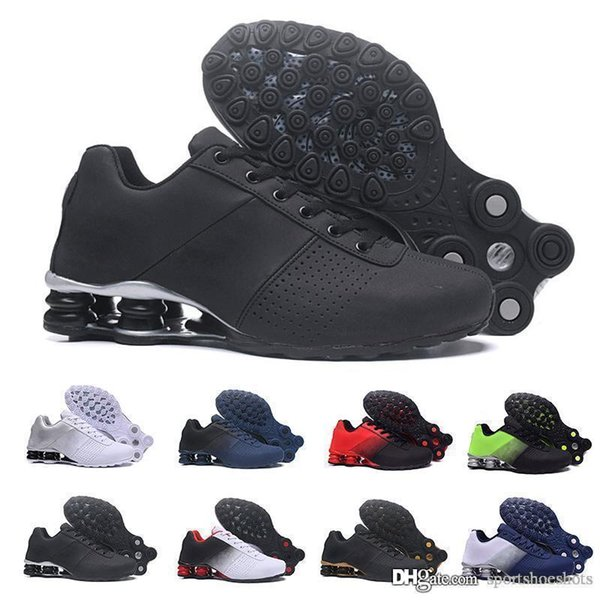 2019 New Shox Deliver 809 Men Running Shoes Wholesale Famous DELIVER OZ NZ Mens Athletic Sneakers Black White Increased Air Cushion Shoes