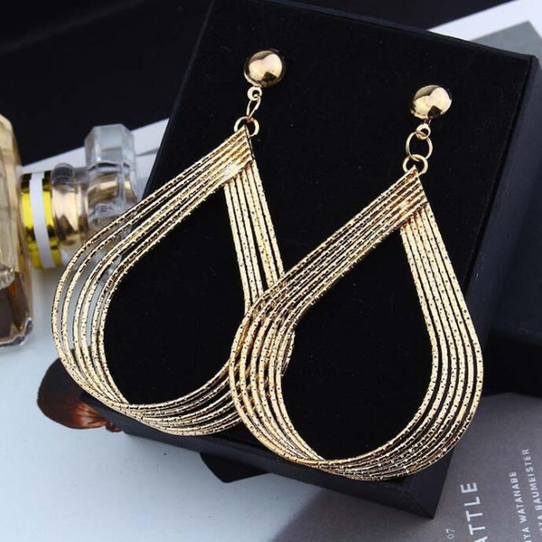 European and American fashion new big creative clothing earrings Geometric drop earrings Handmade Buy 12 pairs to send 2 pairs