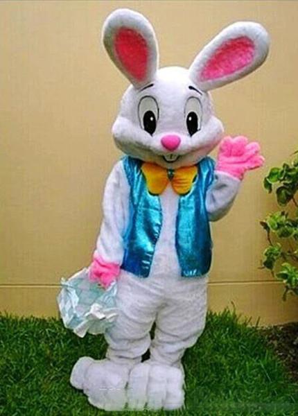 2019Nuevo conejito de Pascua traje de la mascota de conejo de dibujos animados disfraces adulto