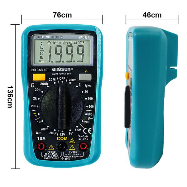 Pen type Multimètre Numérique Autorange AC DC Tension Courant Ohm Diode Continuité