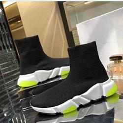 New inicialização Designer de moda para homens mulheres sapatos casuais Speed Trainer Red Triple preto liso Sock inicialização dos homens da sapatilha sapato h0734 frete grátis