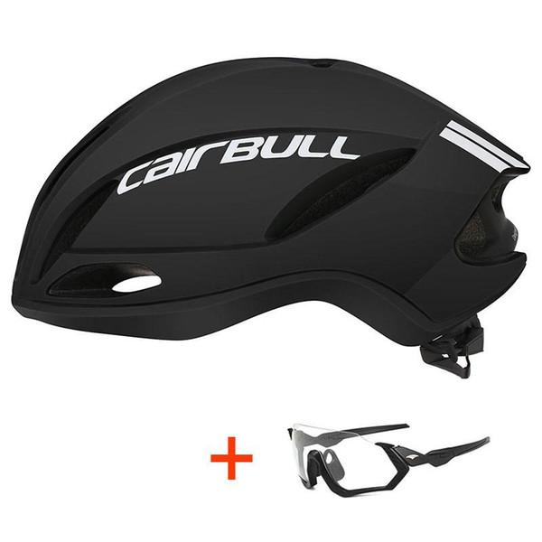 Gözlük ile 2019 Yeni Bisiklet Kask Aerodinamik Yol Bisikleti Dağ Bisikleti Kask In-kalıp Ultralight XC MTB Bisiklet