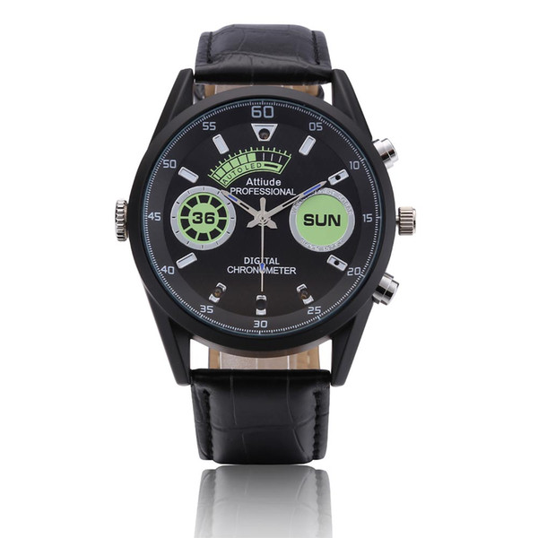 Memoria integrata da 8 GB di memoria HD 1080P DVR Orologio da polso intelligente multifunzione da polso impermeabile Visione notturna a infrarossi Cam Smart Watch PQ543A
