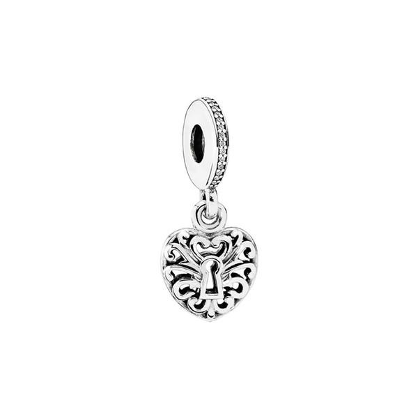 NUOVO 100% argento sterling 925 1: 1 791876CZ ciondolo a forma di cuore con ciondolo con ciondolo regalo originale per gioielli da donna