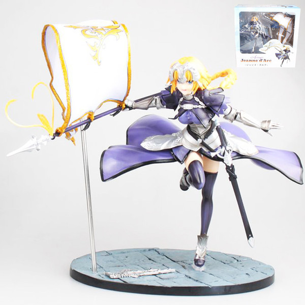 26cm Fate Stay Night Saber Anime Fate Grand Order Jeanne D'arc Ruler Pvc Action Figures Toys Anime Figure Toys For Kids Children