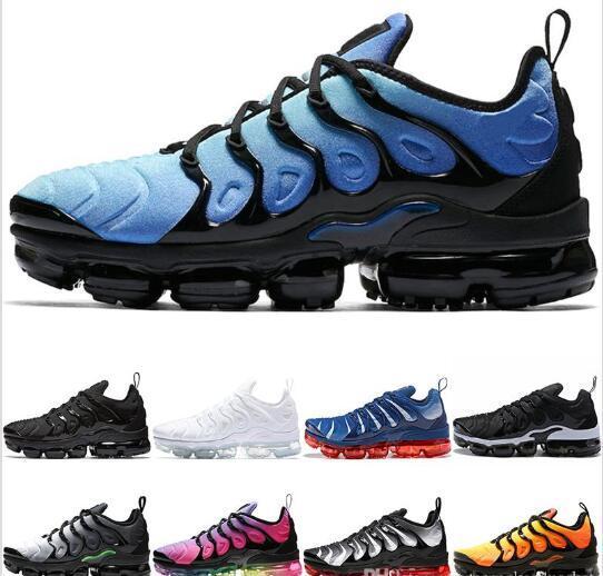 2019 TN Plus mujer zapatos para correr Pure platinum negro bule naranja rojo Juego Royal Grape Volt Hyper entrenadores Lady Sports Sneaker tamaño 36-40