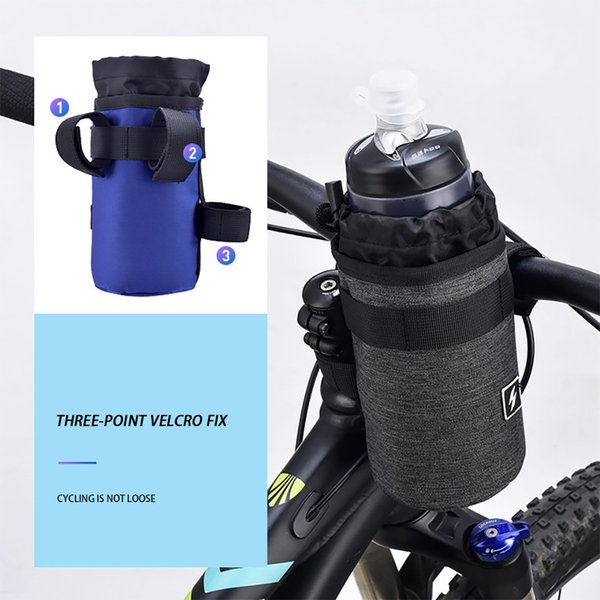 Bicycle Water Bottle Holder Pouch Road Bike Cycling Insulated Kettle Bag Cage Survival Kettle Holder Travel Kits Outdoor Camping
