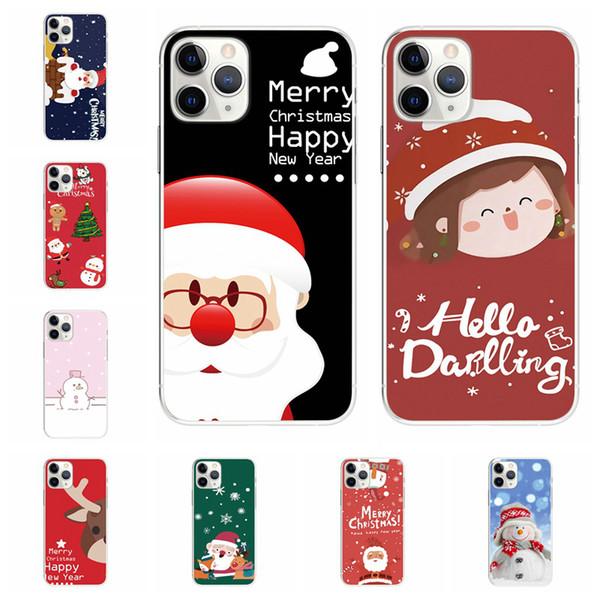 Para iphone 11 Max Pro Xs Max Xr X 8 mais 2019 do presente do Natal de Santa Capas Celulares caso cervos dos desenhos animados