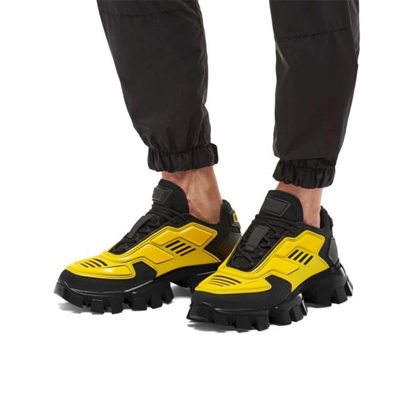 Latest Collection Mens Cloudbust Thunder Knit Sneakers, Fabric Eyestay Oversized Trainers Men Hiking Boots in Blue Yellow Black Size 38-44