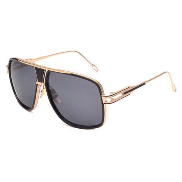 Occhiali da sole di nuova marca da donna Montatura in metallo dorato Occhiali da sole polarizzati per uomo e donna Occhiali con lenti HD oro incandescente Occhiali da vista quadrati retrò