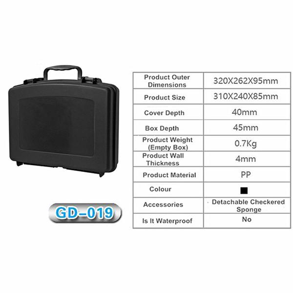 FIRECLUB Plastic box multi-function toolbox protective box with pre-cut foam seal anti-shock equipment box