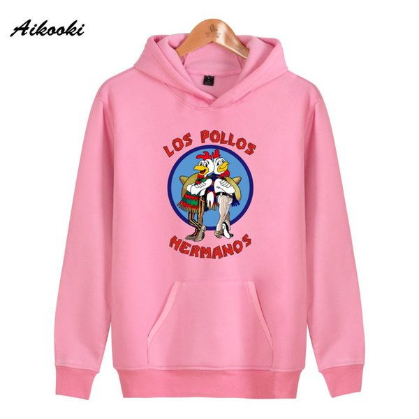 los pollos hermanos hooded women/girl fashion carton hoodies autumn winter sweatshirt hip hop girl clothes coat - from $25.04