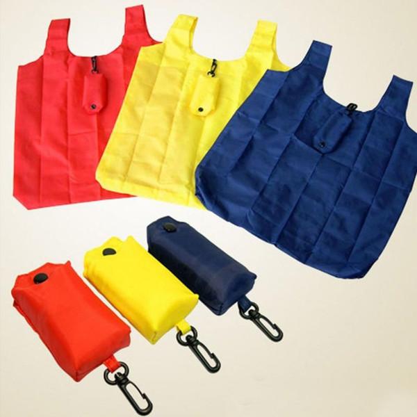 Faltbare einkaufstasche tragbare handtasche einkaufstasche reise mit hoop schlüsselringclip # 31358