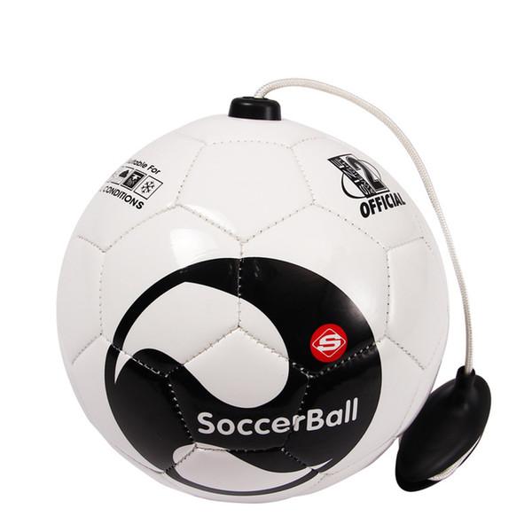 top popular New Football BALL Kick beginner Soccer Ball Practice Belt Training Equipment Standard Official profession Balls Size 2 2021