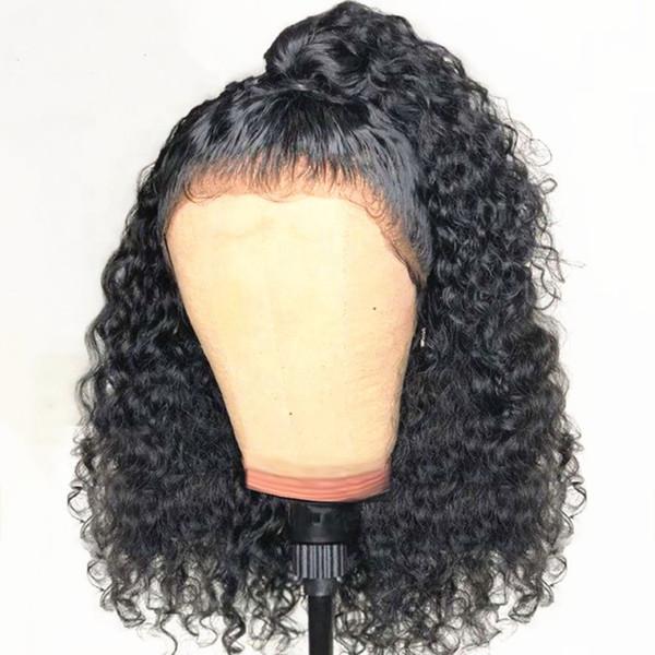 Bebek Saç Tutkalsız Kıvırcık Dantel Açık Peruk Öncesi Mızraplı 150 Yoğunluk Remy Saç Peruk 13X6 Peru Dantel Ön İnsan Saç Peruk