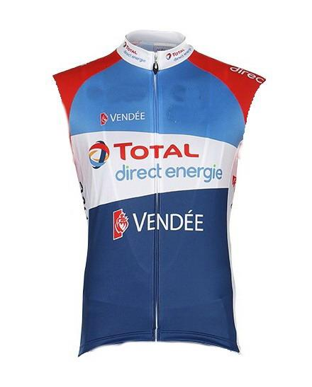 best selling Windstopper 2020 TOTAL DIRECT ENERGIE Pro Team Sleeveless Cycling Jacket Vest Gilet Clothing Bicycle Maillot Ciclismo