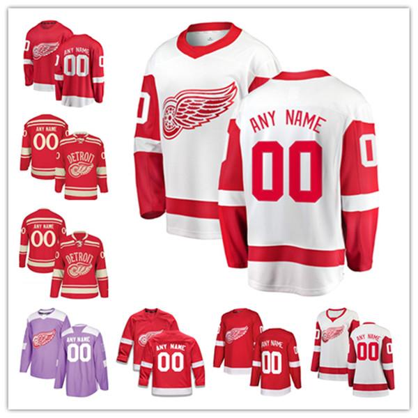Os fanáticos feitos sob encomenda do jérsei das asas vermelhas de Detroit marcaram as camisas do hóquei em gelo de Tyler Bertuzzi Gordie Howe Niklas Kronwall